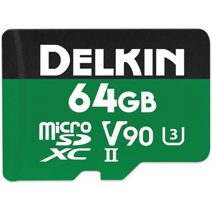 Picture of Delkin Devices 64GB Power UHS-II microSDXC Memory Card